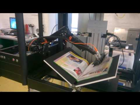 Book scanner with Automated Page turn Robot! Low Cost Robotic Application - Robolink®