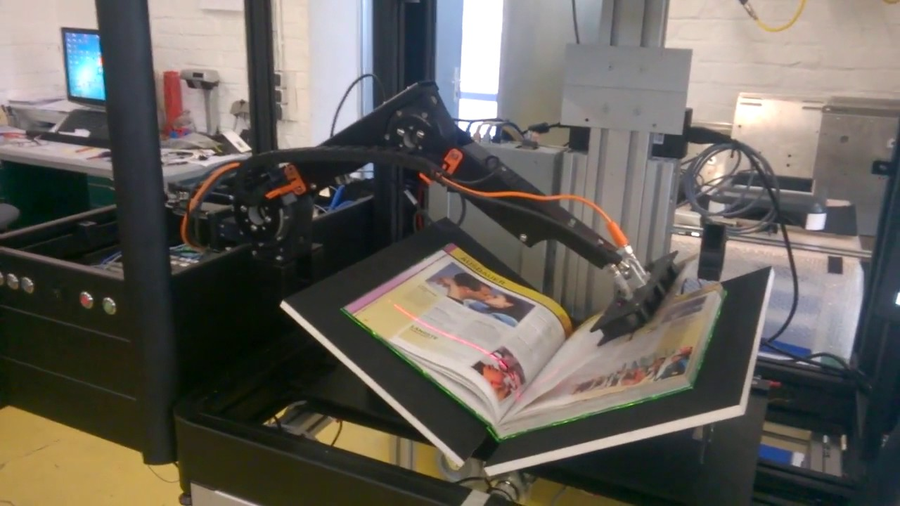 Cost Less Auto >> Book scanner with Automated Page turn Robot! Low Cost Robotic Application - Robolink® - YouTube