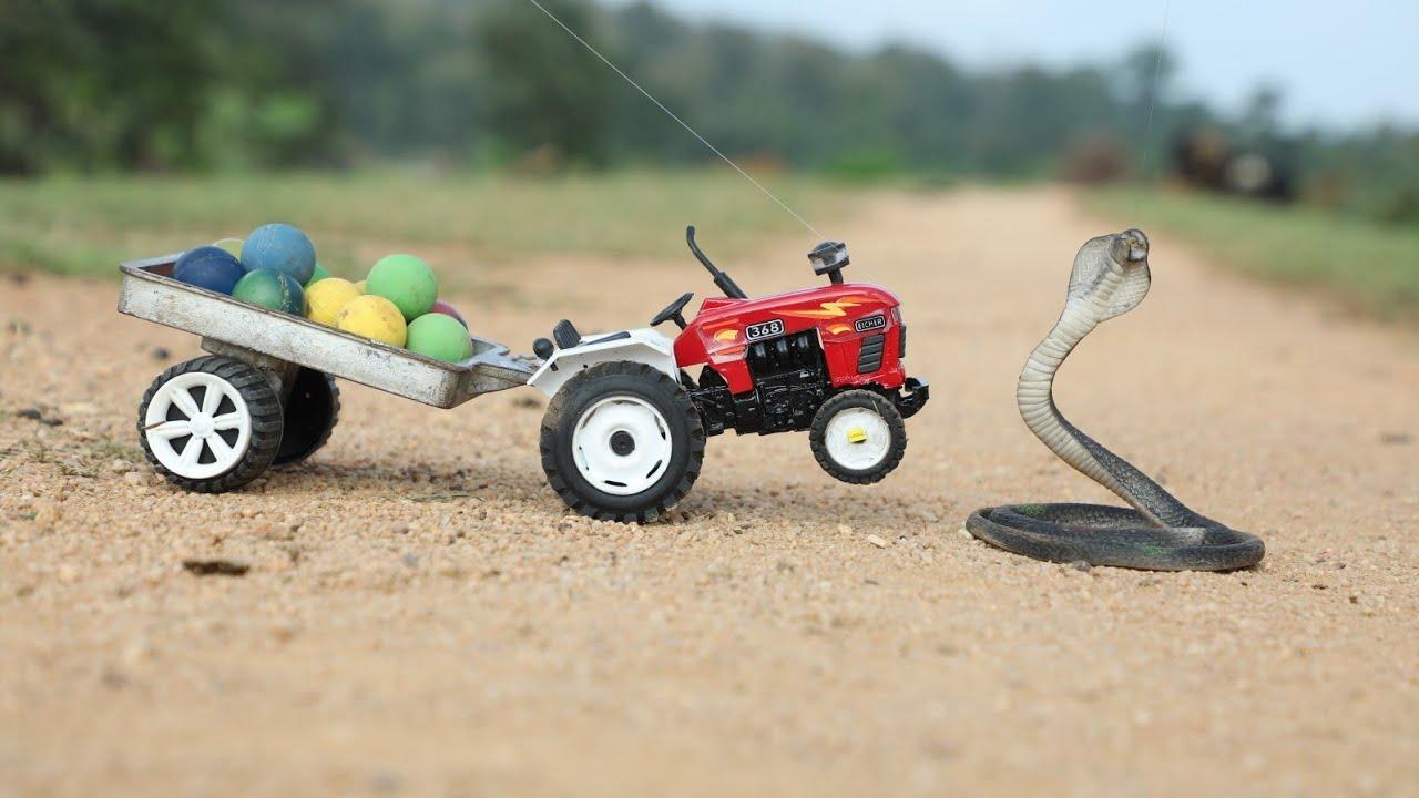 Midi Jcb fully Loading king Cobra Snake And Eggs Mini Eicher 368 Tractor   Tata Truck   ALT   CS Toy
