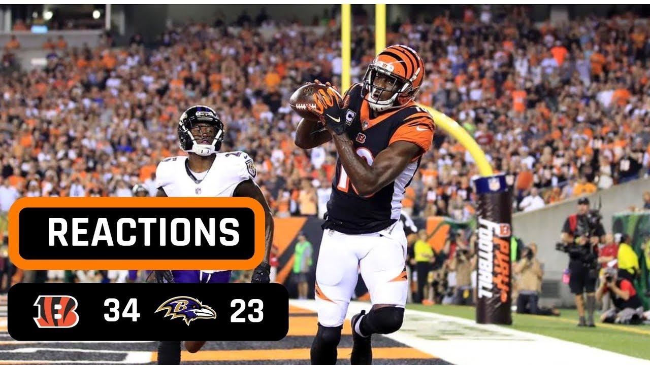 e16c0d49 Cincinnati Bengals vs Baltimore Ravens Week 2 Thursday Night Football Recap    AJ GREEN IS A MONSTER!