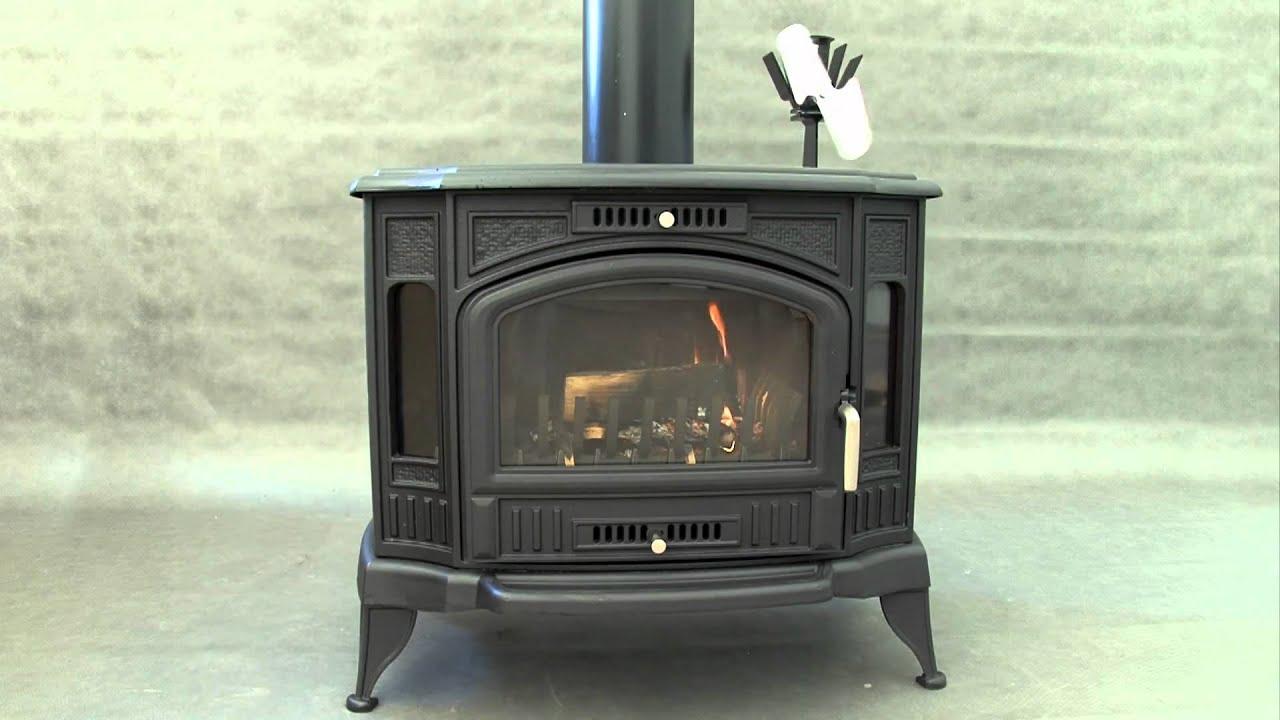 ekowent ecological fireplace fan youtube