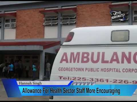 Allowance For Health Sector Staff More Encouraging