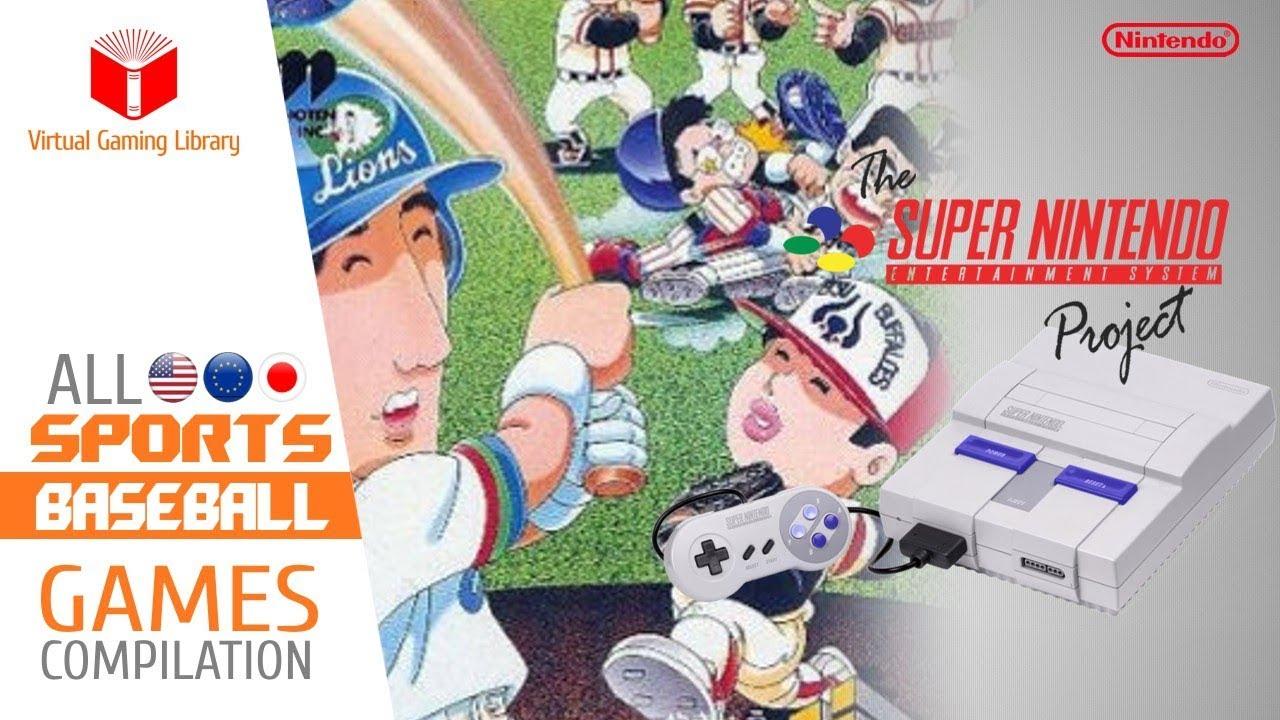 All Snes Super Nintendo Baseball Games Compilation Every Game Us Eu Jp Youtube