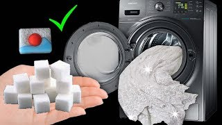 EN İYİ TÜL PERDE BEYAZLATMA & Küp Şeker ve Bulaşık Tableti ile Nasıl Pırıl Pırıl Yapılır