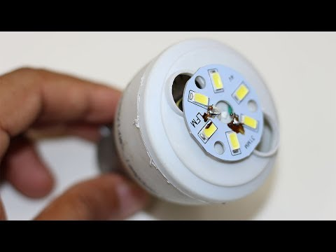 Convert Old Broken CFL Into LED Bulb || MarufTechMaker