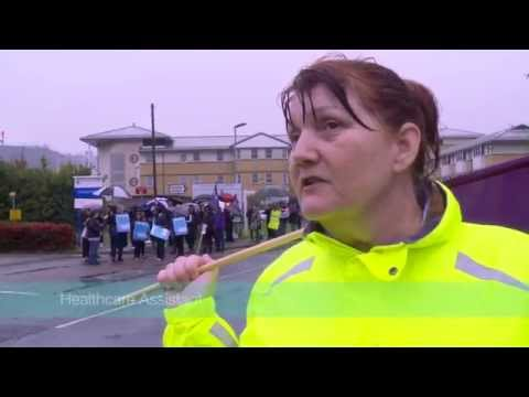 NHS workers explain why they're on strike