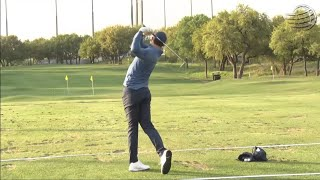 Rory McIlroy and Tiger Woods on the Range