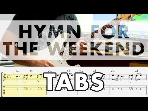 Coldplay - Hymn For The Weekend Electric Guitar Cover - Tabs
