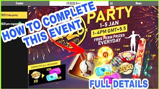 HOW TO COLLECT 2020 TOKEN IN FREE FIRE,FREE FIRE NEW YEAR 2020 PARTY EVENT FULL DETAILS,FF2020 PARTY