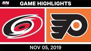 NHL Highlights   Hurricanes vs. Flyers – Nov. 5, 2019