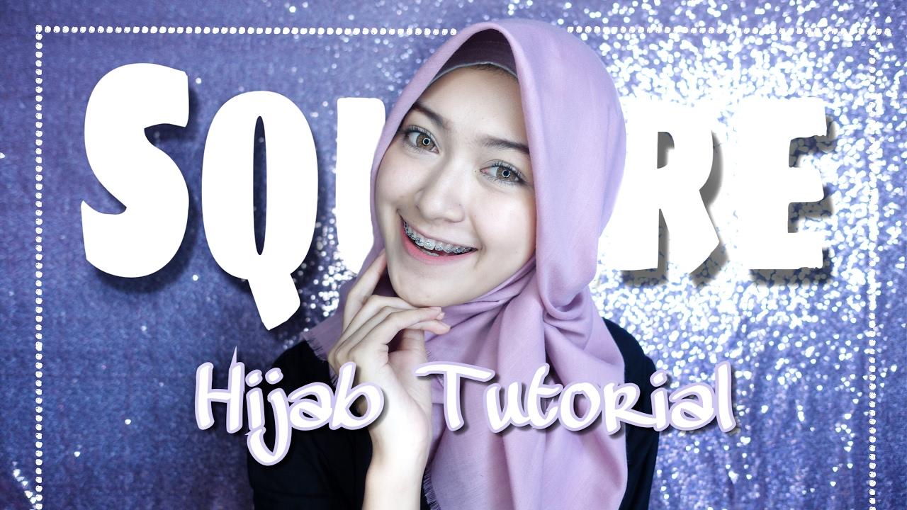 SQUARE HIJAB TUTORIAL (tutorial hijab segiempat) | saritiw #1