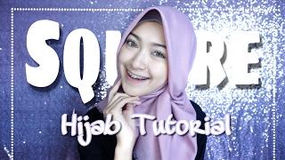SQUARE HIJAB TUTORIAL (tutorial hijab segiempat) | saritiw