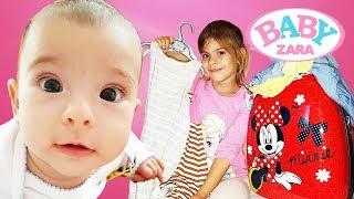 Элис и малышка ЗАРА собирают чемодан на ОТДЫХ! #Одевалки Примеряем платья #BabyZara Видео для Детей
