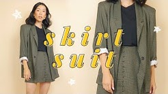 DIY SKIRT SUIT (for $10 from thrift!) | WITHWENDY