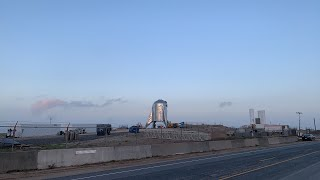 Live at SpaceX Boca Chica - Sunrise with Starhopper