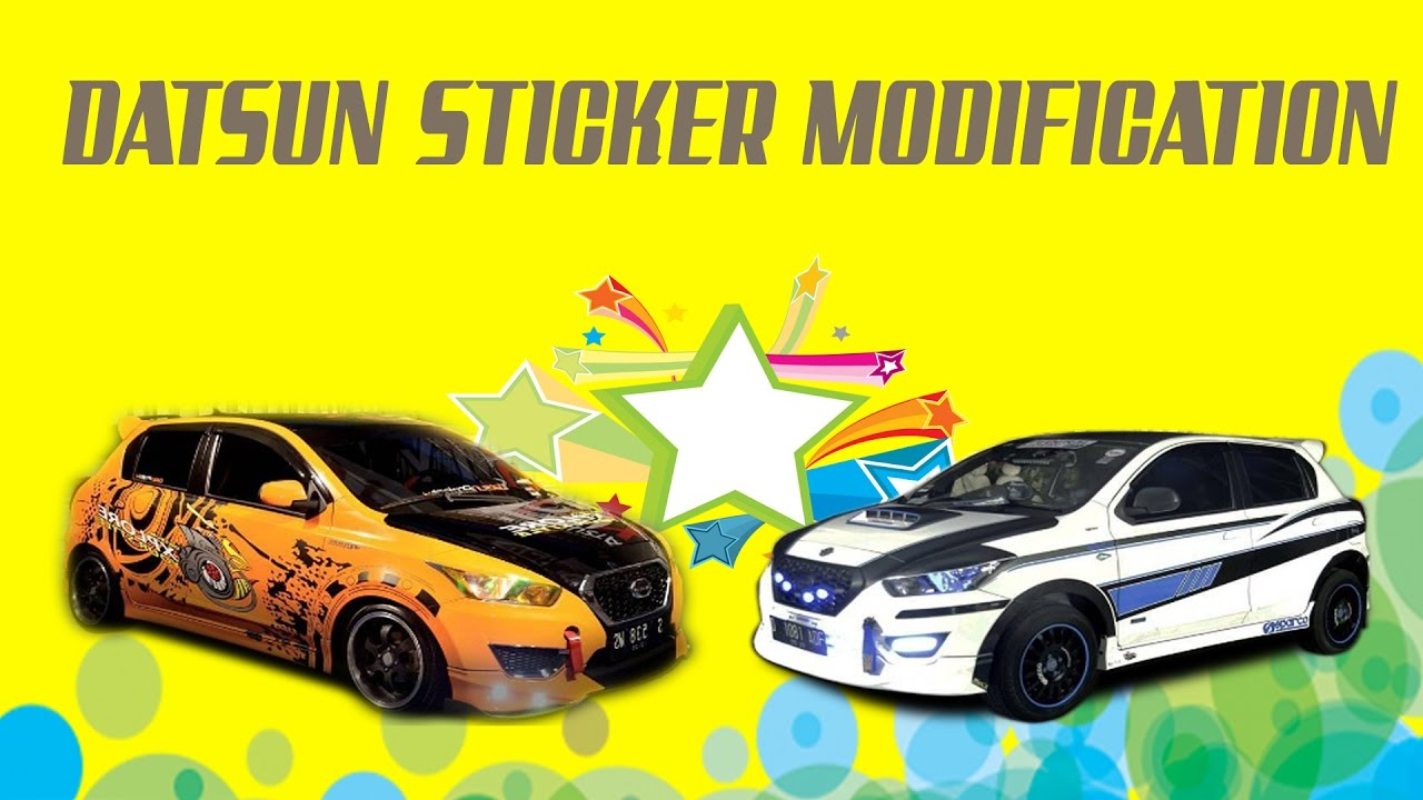 Modifikasi Stiker Mobil Datsun