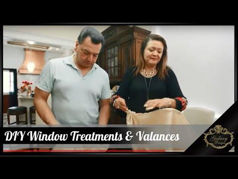 DIY Valances Window Treatments | Elegant Drapes | Galaxy Design Video #218