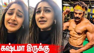 It hurts looking at you! – Sayyeshaa Emotional | Arya Gym fitness Video, Teddy, Pa Ranjith Movie