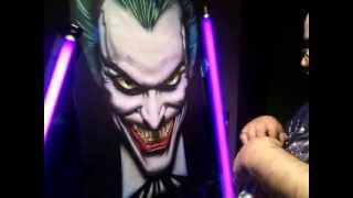 "Airbrushing with Wicked UV Glow Base ""Joker"" RG Airbrush Designs"