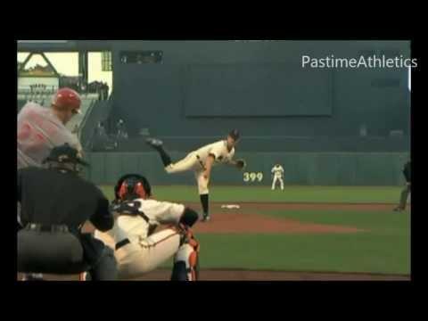 Matt Cain Pitching Slow Motion - San Fransisco Giants Baseball MLB World Series