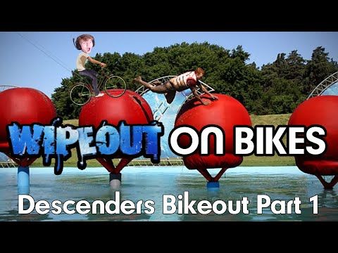 Wipeout On Bikes?! | Bikeout Descenders First Attempt | Funny Moments Part 1