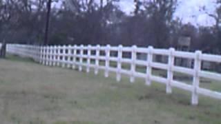 Lone Star Vinyl Fence....tan 3-rail Ranch Fence In Waco Tx 750ft