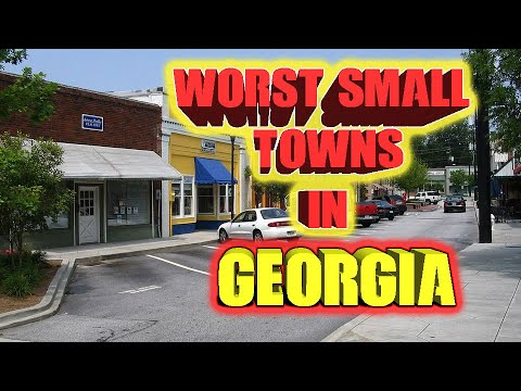 Top 10 Worst Small Towns In Georgia, USA.  A Couple Walking Dead Towns.