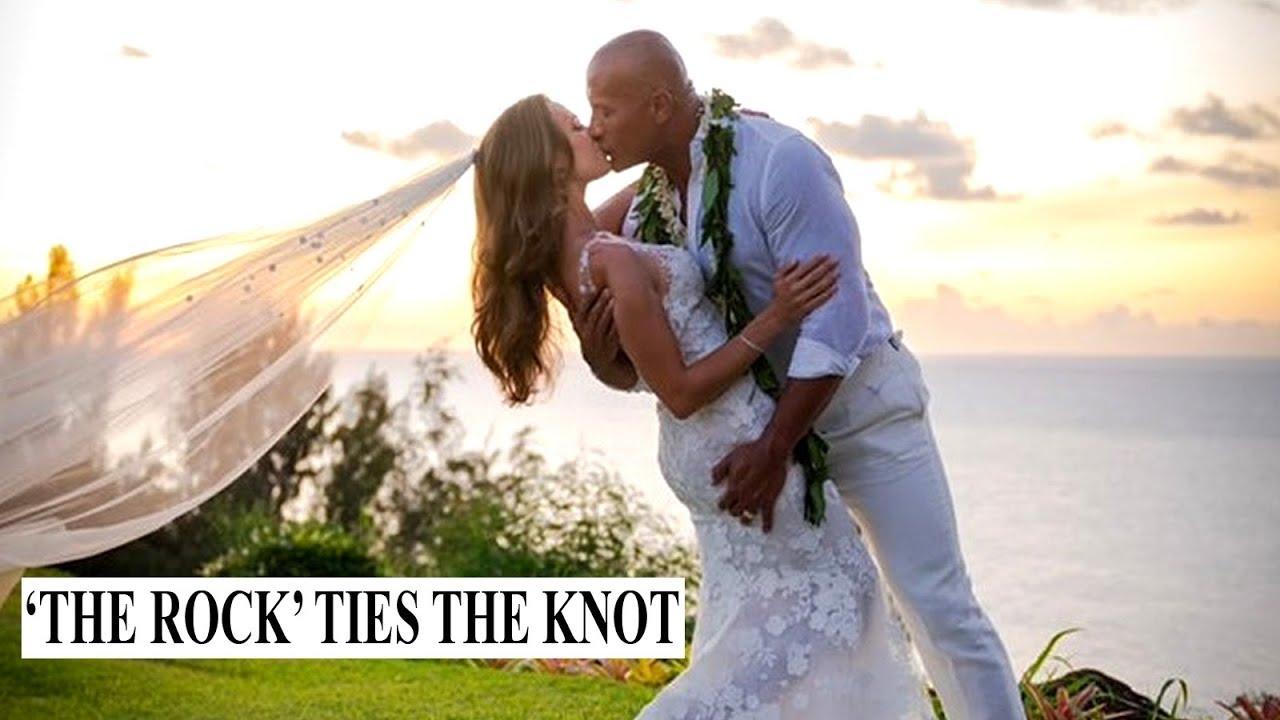 'We do': Dwayne 'The Rock' Johnson marries longtime girlfriend Lauren Hashian