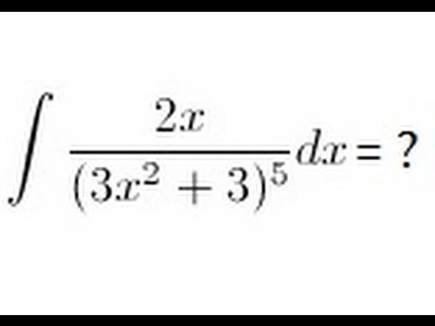 Calculus - Integration By Substitution (2 Of 13)