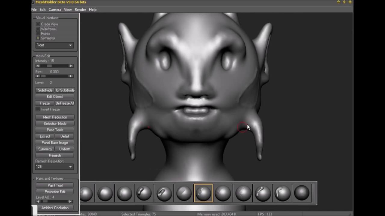 Tool similar Zbrush Sculptris Pro in development - Meshmolder