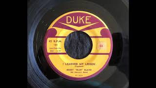 Watch Bobby Bland I Learned My Lesson video