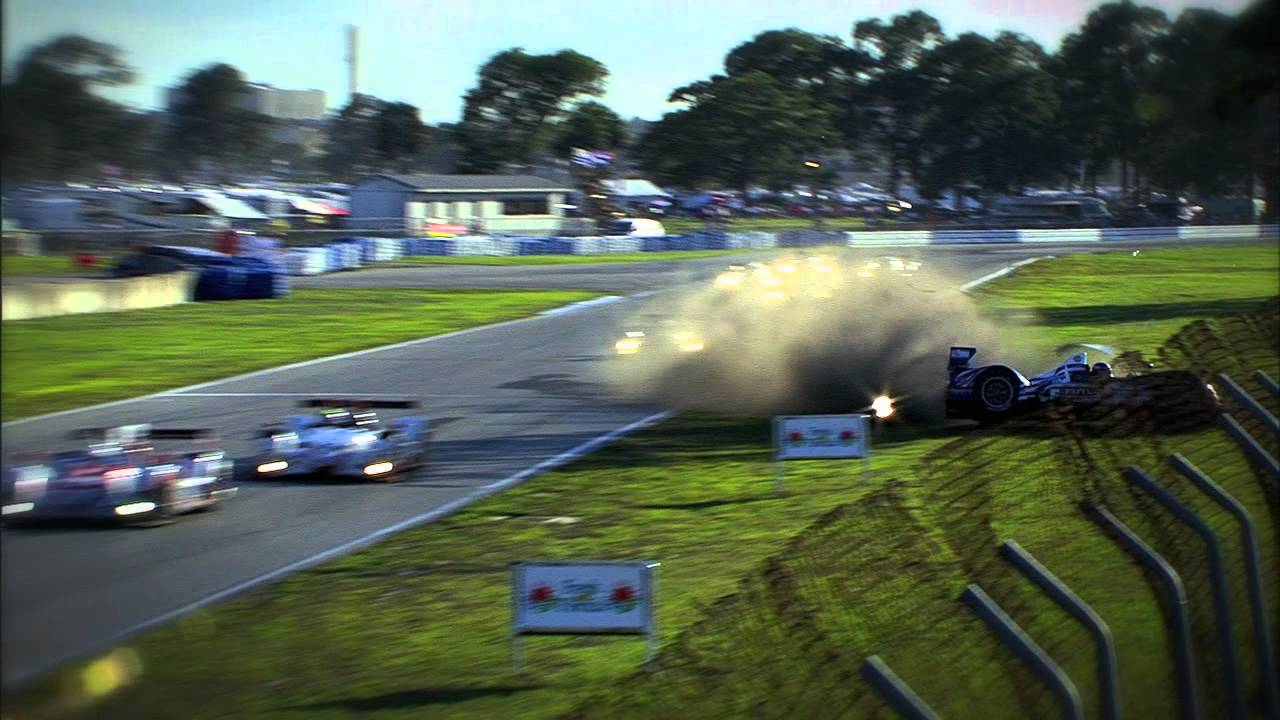 Full Contact Dempsey Racing Crash Alms Tequila Patron Espn Sports Cars Uscr