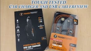 Tough tested car charger and USB cable review