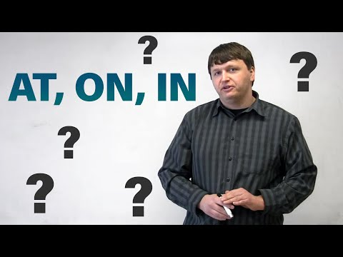 English Grammar - Prepositions of Place - AT, ON, IN