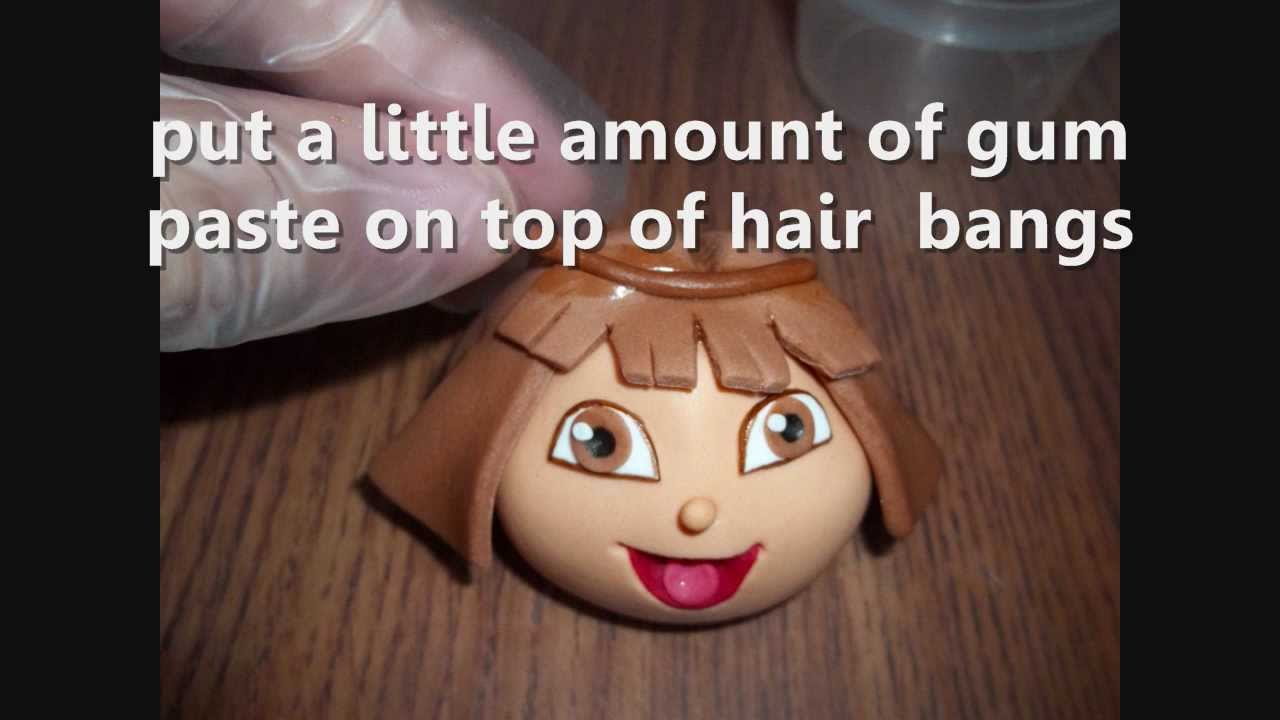 How To Make Doras Face With Gum Paste For A Cake