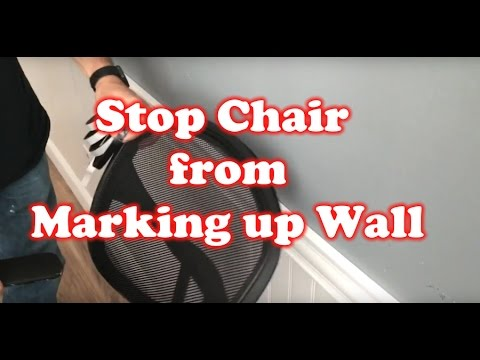 How to Stop a Office Chair from Marking up Wall  YouTube