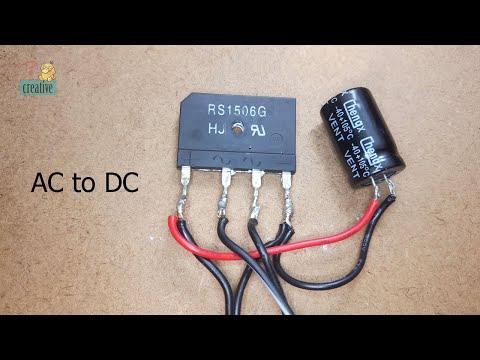 gbpc3506 bridge rectifier ac to dc wiring diagram ac to dc using diode bridge and capacitor full bridge rectifier  ac to dc using diode bridge and