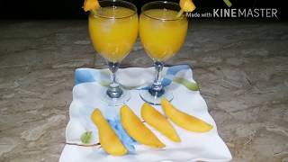 Mango Fruity Recipe - at Home - Fresh Mango Juice - Summer Drink   Easy cooking with as
