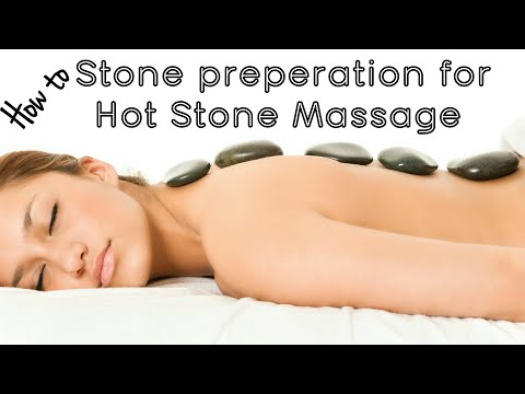 Stone preparation for hot stone massage | effective massage technique for pain released.