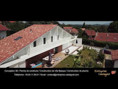 Construction d'une villa traditionnelle basque avec piscine à Bidart