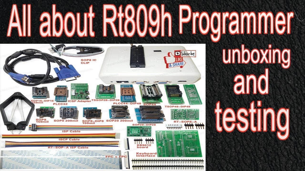 KING OF PROGRAMMER RT809H PROGRAMMER USING AND SOFTWARE LINK