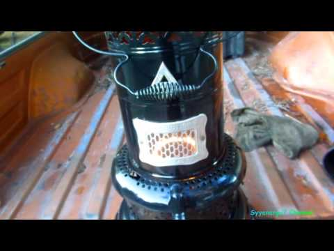 Perfection Kerosene heater with DIESEL, Test 1