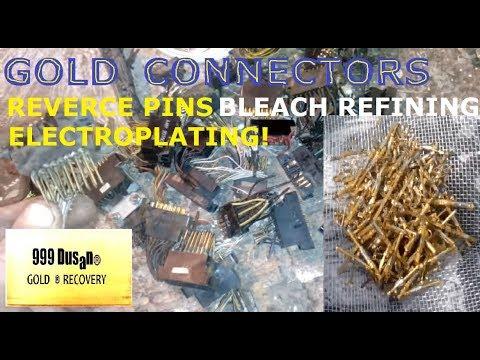 Gold Connectors -  Pins Reverce Electroplating!