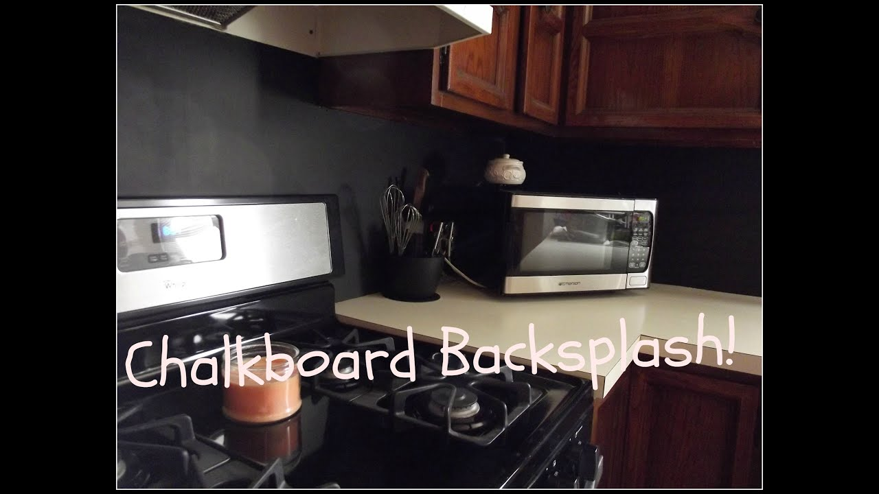 DIY Chalkboard Kitchen Backsplash