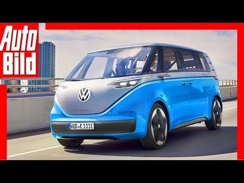Download Zukunftsaussicht: VW I.D. Buzz (2019) - Bulli - Neuvorstellung - Elektro - Infos - Skizze