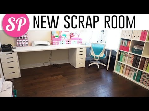 New Scrap Room Tour (Quick Overview) | IKEA Craft Room Tour Summer 2018