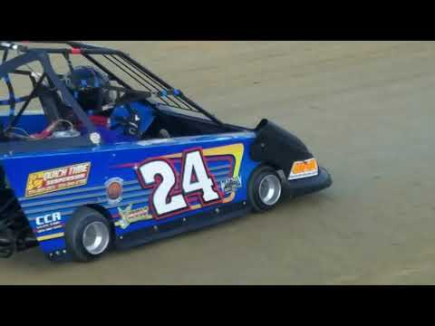 24 Brad Currence Red Fredrick Memorial Race 7/6/19. - dirt track racing video image