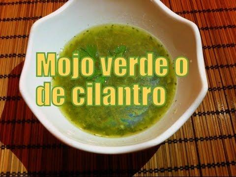 Receta de Mojo verde de cilantro