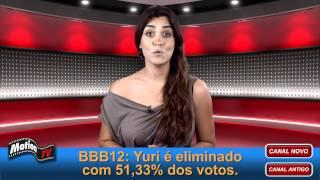 BBB12: Yuri é eliminado com 51,23% dos votos.