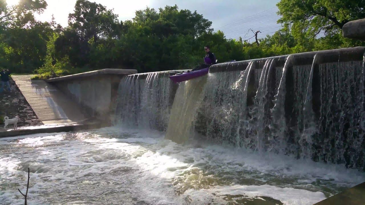Kayaking 10 Waterfall In Dallas Tx On Sit On Top In 4k